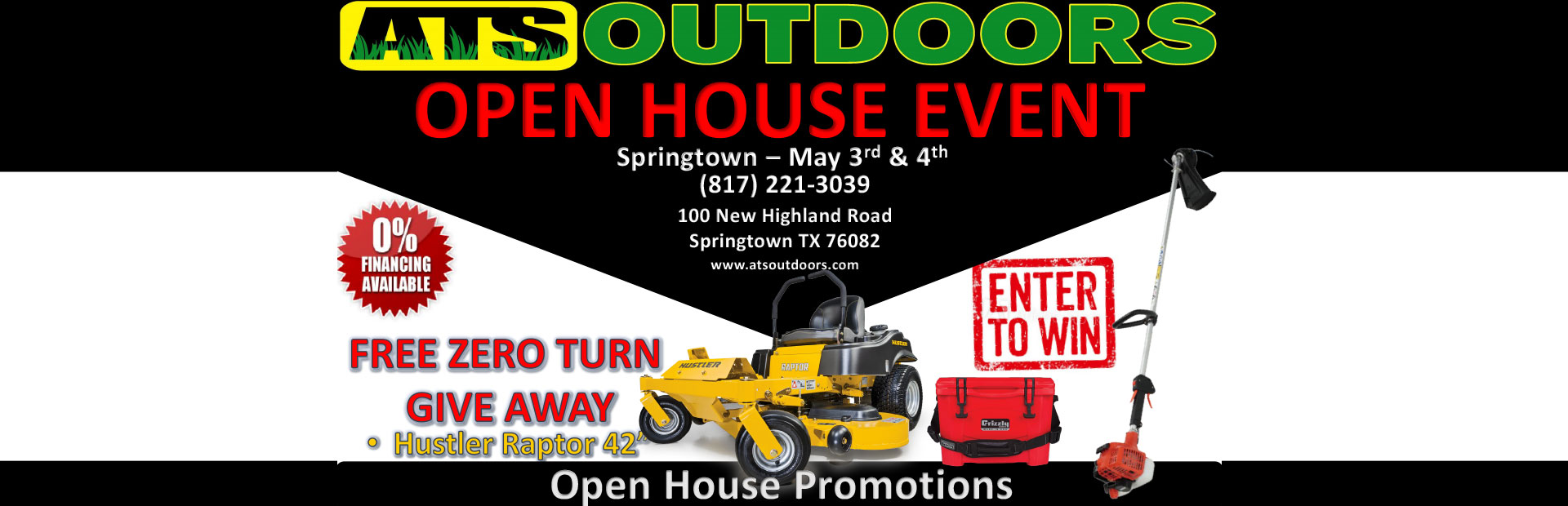 Ats Outdoors open house event: Join us on April 12th & April 13th.
