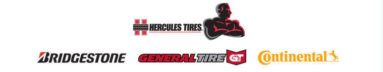 We carry products from Hercules, Bridgestone, General,and Continental.