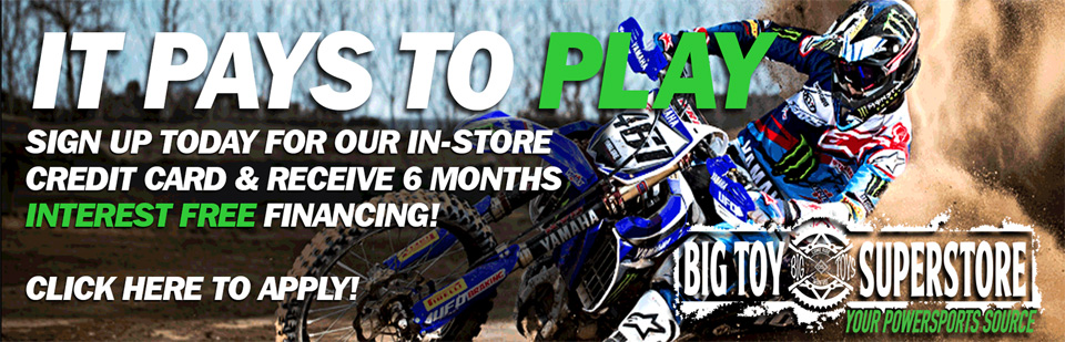 Sign up today for our in-store credit card and receive 6 months interest free financing!