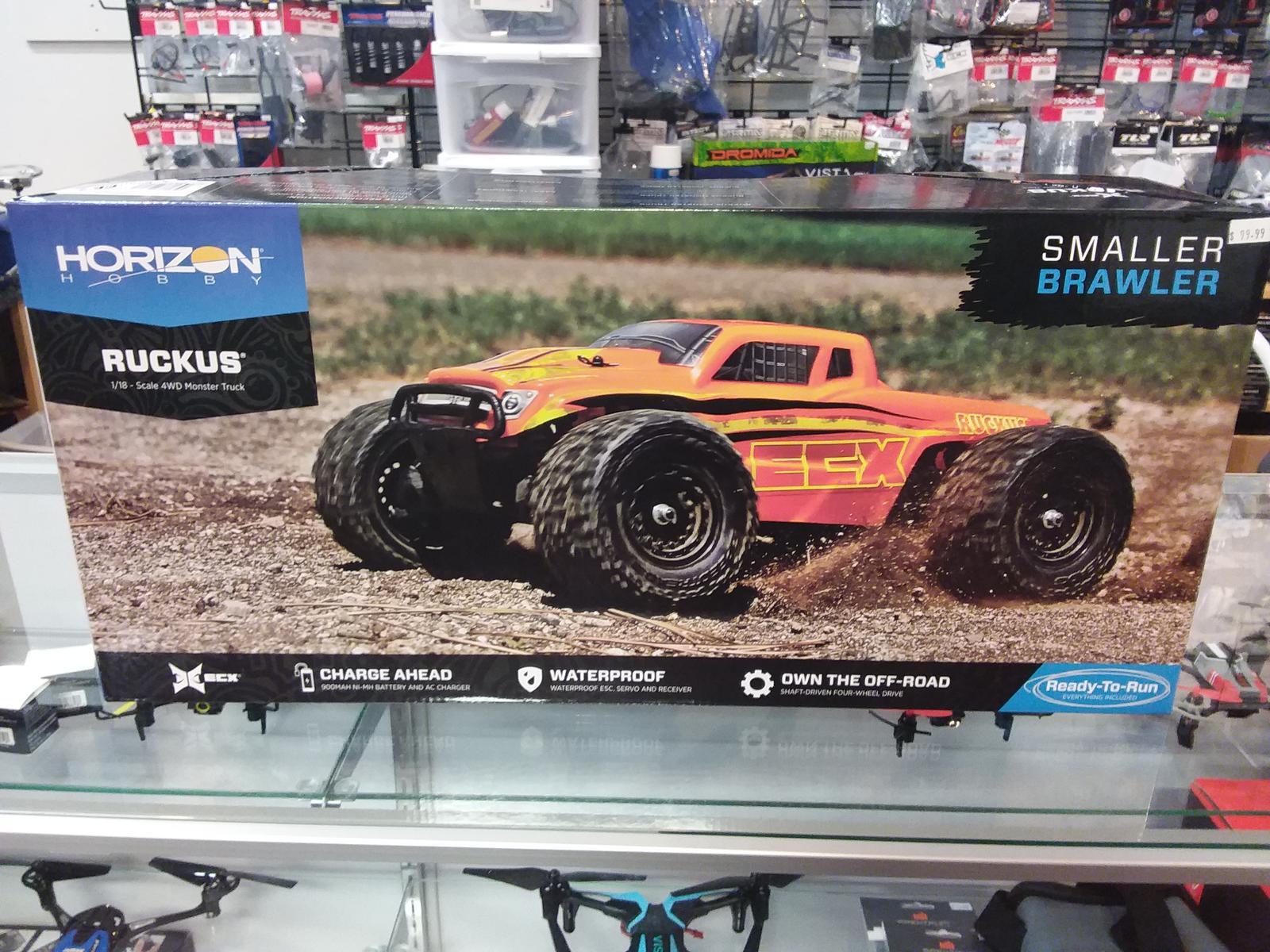 Horizon Hobby 1 18 Ruckus 4WD Monster Truck RTR Black Red ECX T1 $99