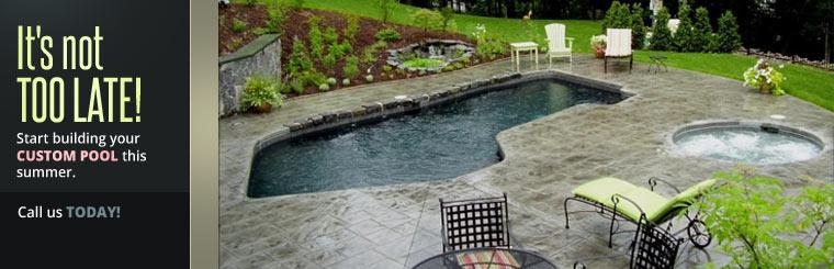 Start building your custom pool this summer. Call us today!