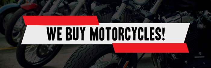 We Buy Motorcycles Banner