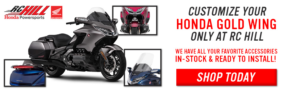 Customize your Gold Wing with Accessories - Only at RC Hill