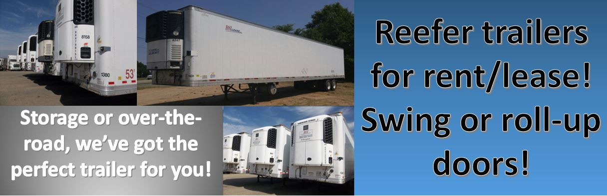 Reefer trailers for rent/lease in Charlotte, NC
