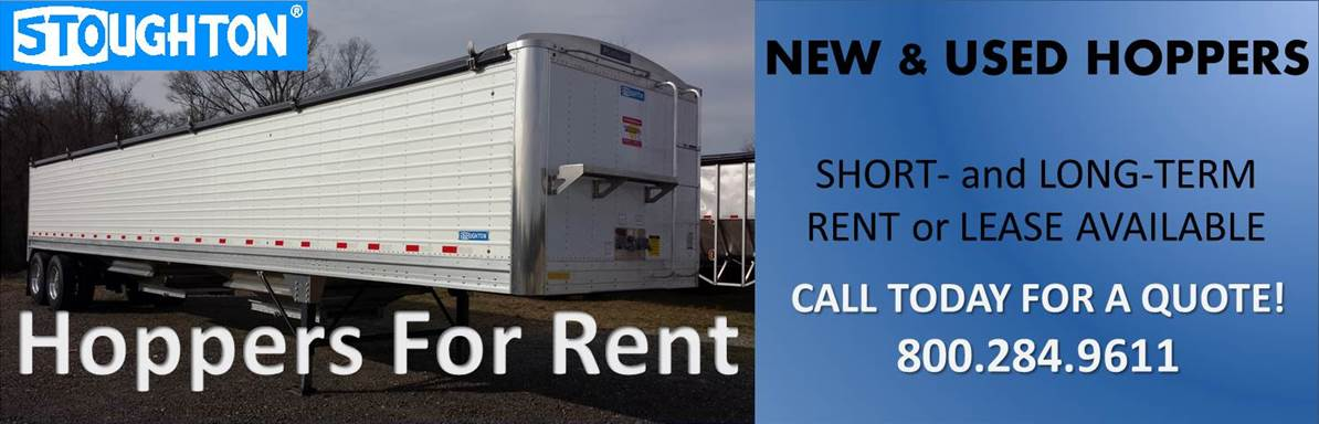 Hopper trailers available for rent. Call for quote! 800.284.9611