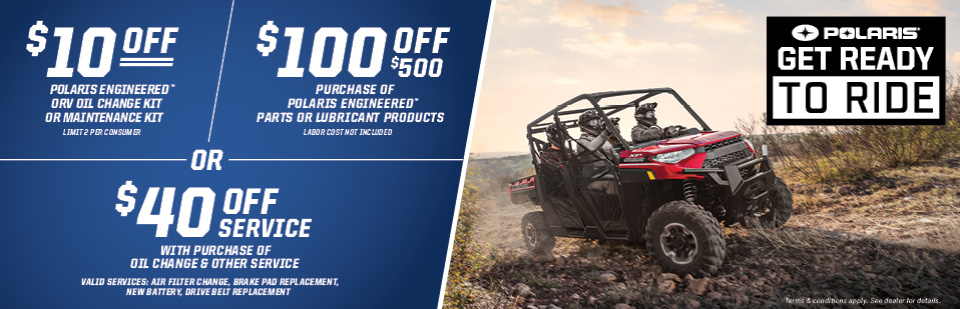 'Get Ready to Ride' with these special incentives from Polaris!