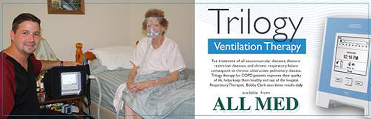 Trilogy Ventilation Therapy: Contact us for details.