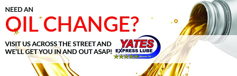need an oil change visit us across the street