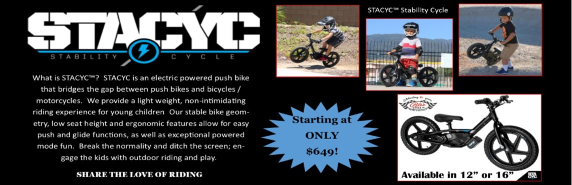 STACYC Available Now at Pete's Cycle!