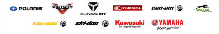 We carry products from Polaris, Victory, Slingshot, KYMCO, Can-Am, Arctic Cat, Sea-Doo, Ski-Doo, Kawasaki, and Yamaha.