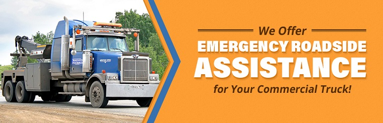We offer emergency roadside assistance for your commercial truck!