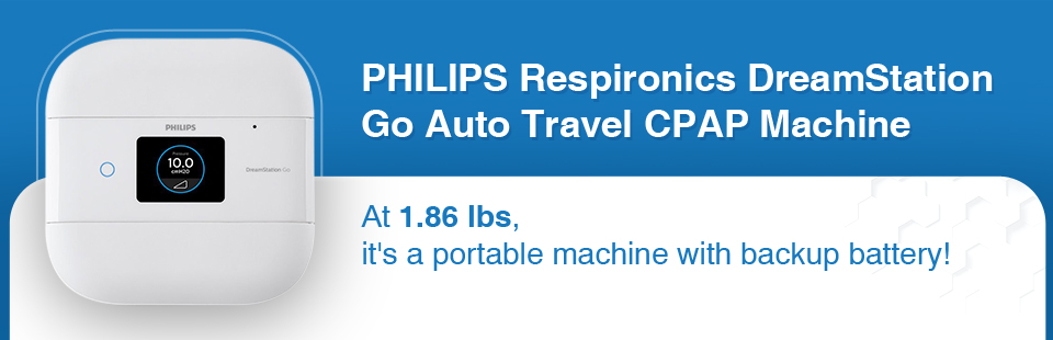 Philips Respironics DreamStation Go Auto Travel CPAP Machine: At 1.86 lbs, it's a portable machine with backup battery!
