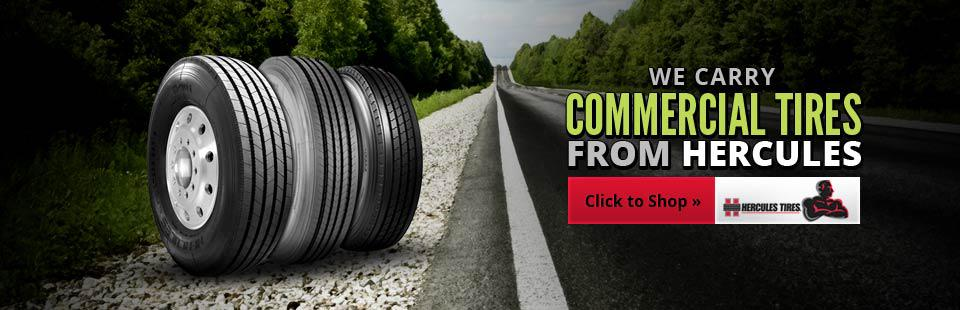 We carry commercial tires from Hercules!