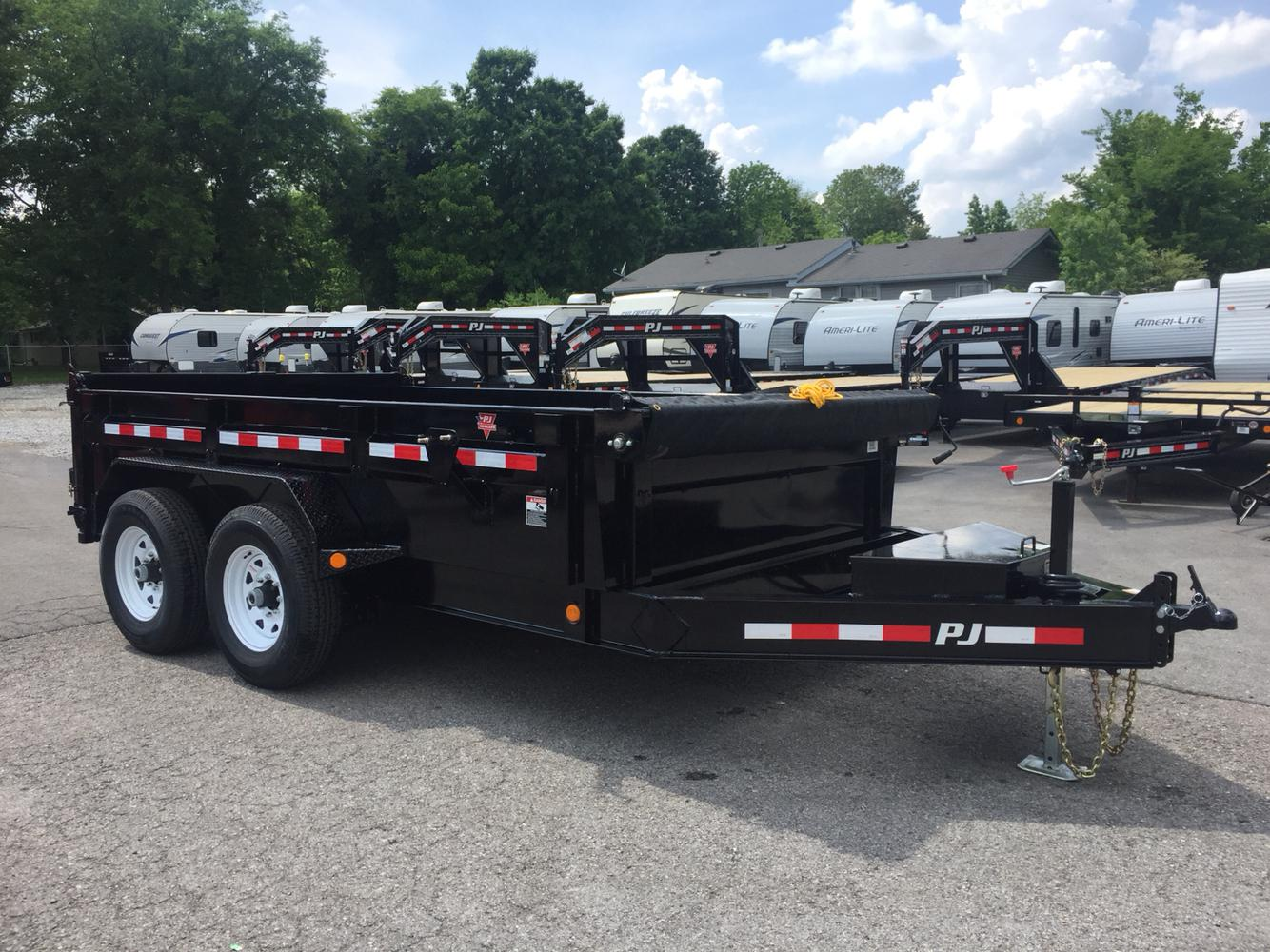 2019 Pj Trailers 12 Dl Low Pro Dump Trailer W Tarp Kit Spare Tire Rims Wiring Diagram Previous